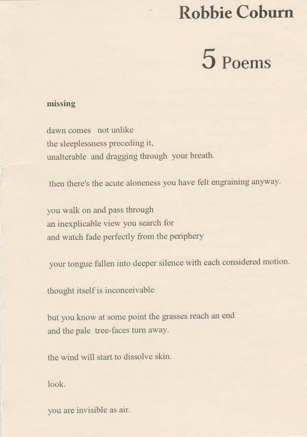 5 Poems